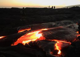 Essential Hawaii Tours lava flow hot