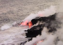 Essential Hawaii Tours lava ocean