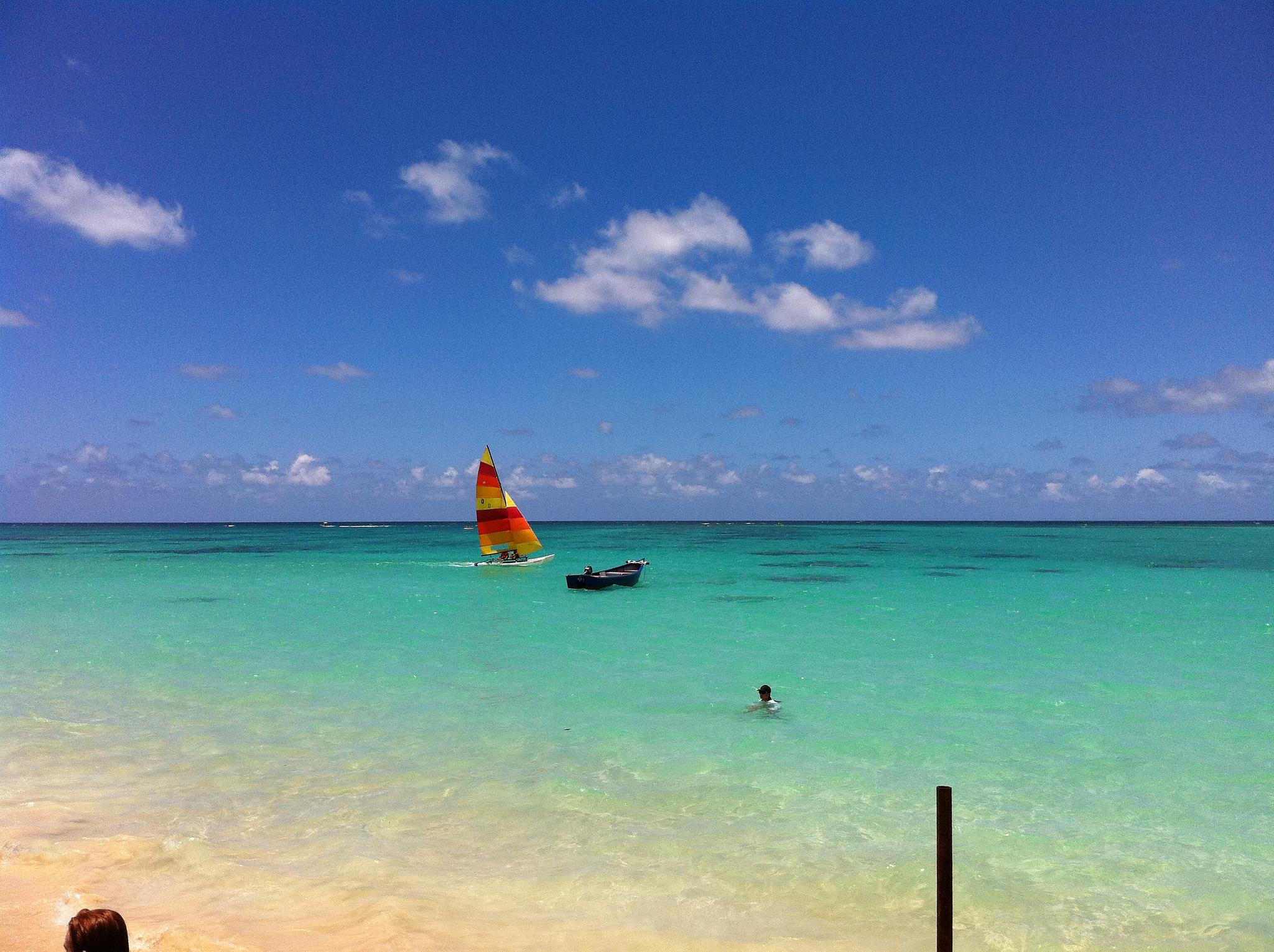 Kailua Beach Adventures blue sky and beach
