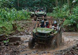 Kipu Ranch Adventures kawasaki teryx mud splashing