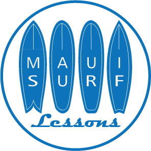 Logo maui surf lessons