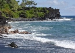 Temptation Tours black sand beach at waianapanapa