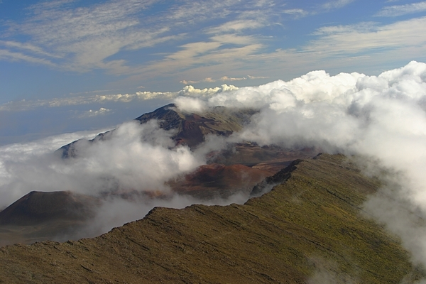 Temptation Tours haleakala crater clouds