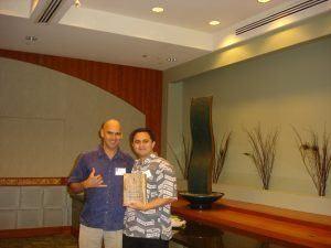 Tim with Tour guide winner Ben Catcho Jr