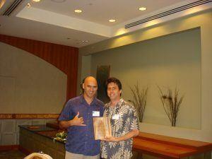 Tim with Tour guide winner Richard Lindberg Hawaiian Legacy Tours