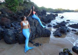 hawaii mermaid adventures blue mermaids beach rocks
