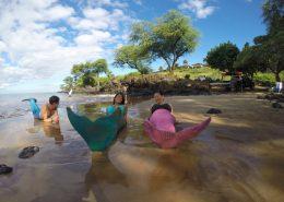 hawaii mermaid adventures green pink mermaids blue merman beach