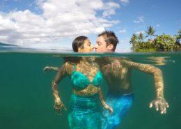 hawaii mermaid adventures mermaid merman kiss