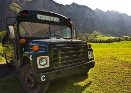 kualoa ranch Kaaawa Bus Pic