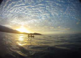 maui kayak adventure MakenaKayakSunriseClouds