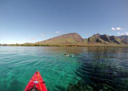maui kayak adventure OlowaluMaleSnorkelAbove