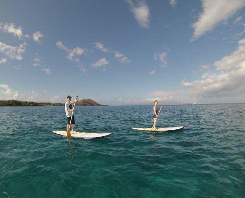 maui stand up paddle Boardingcleardaycouple