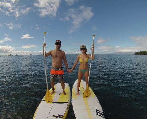 Makena SUP Couple Holding Hads