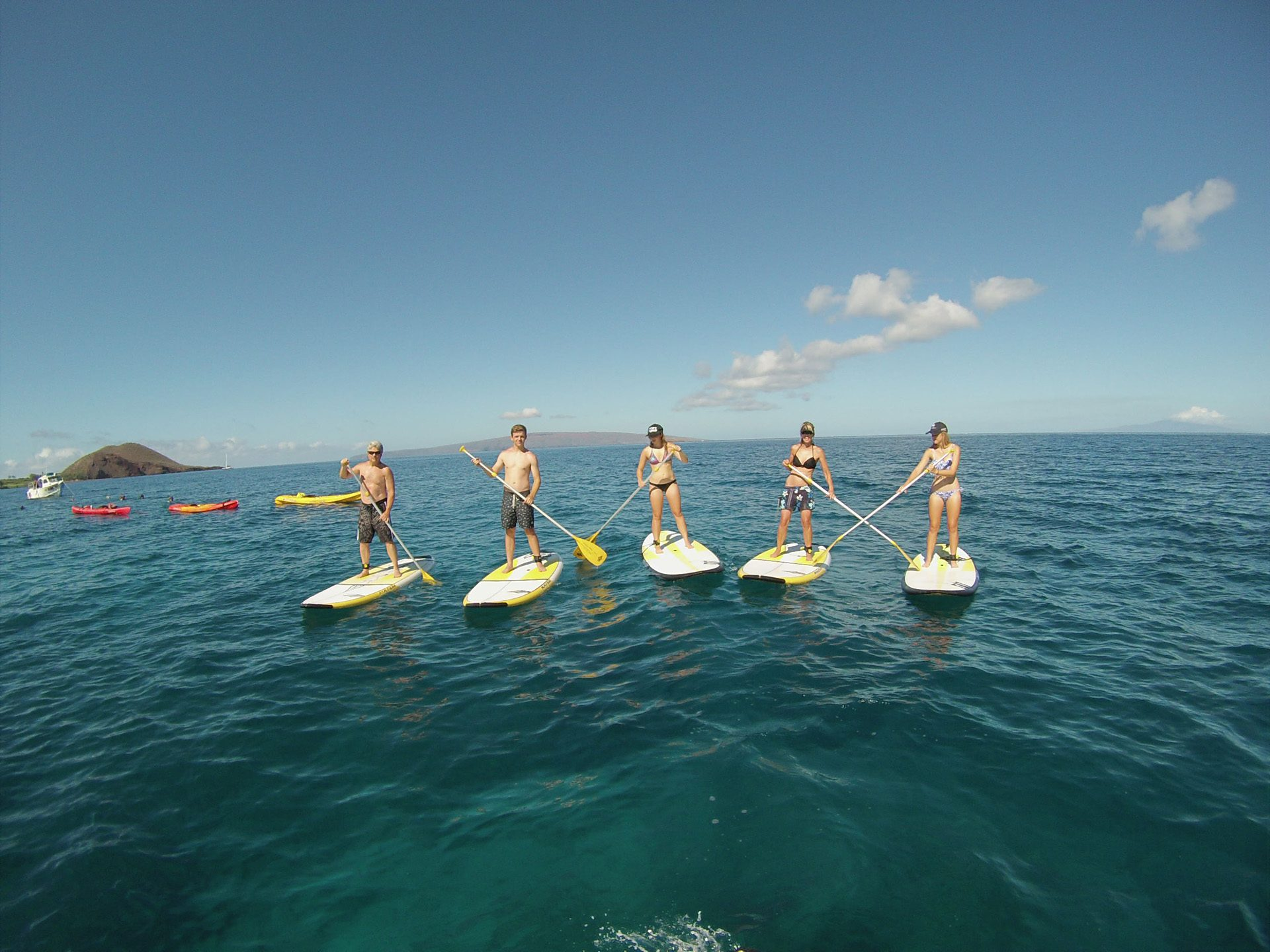 maui stand up paddle MakenaSUPFamily