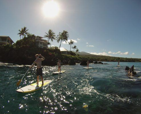 maui stand up paddle MakenaSupLavaRockFamily