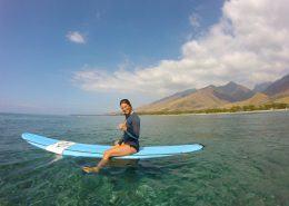 maui surf lessons UkumehameLaurieSitonboard