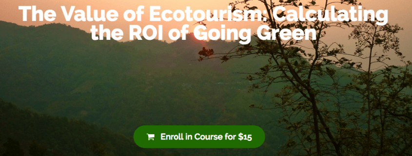 value of ecotourism calculating
