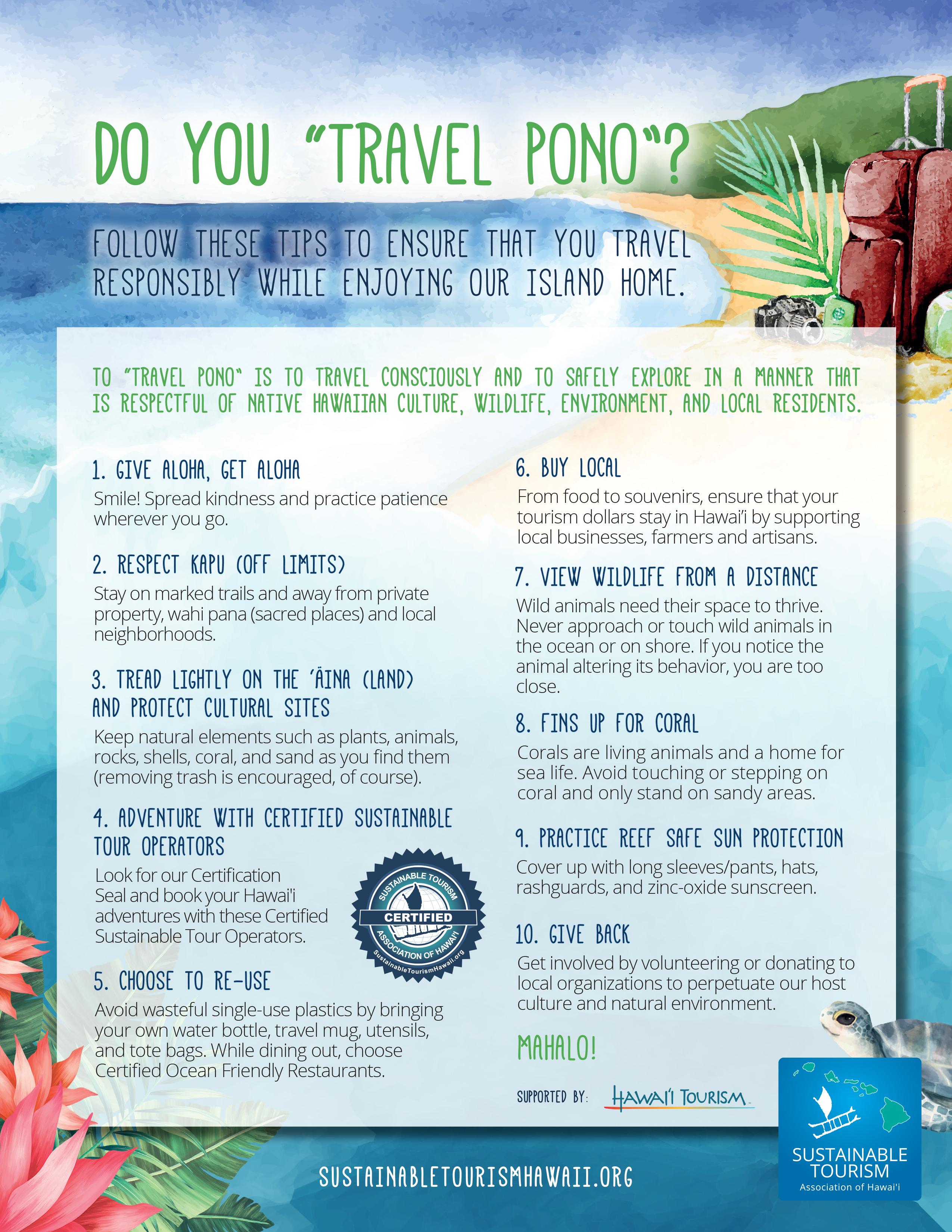10 Travel Pono Tips